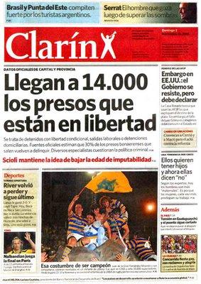 A polêmica (e engraçada) manchete do jornal argentino Clarin