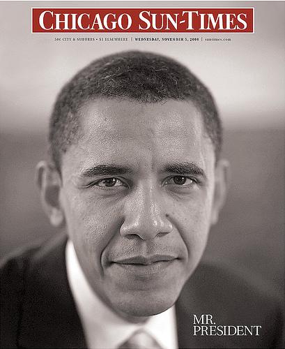 A capa do Chicago Sun-Times