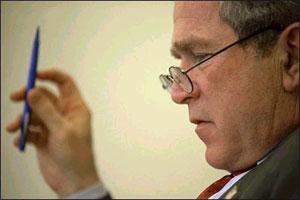 Um Bush estudioso e intelectual? Milagres da lente de Eric Draper