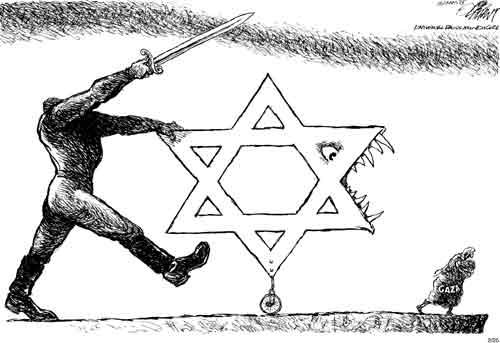 Mais uma charge polêmica do septagenário cartunista Pat Oliphant